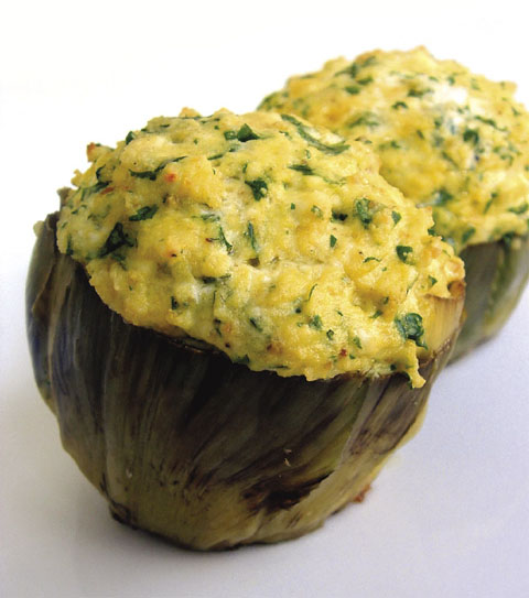 ... ancient dish from Central Italy: Stuffed Artichokes (Carciofi Ripieni